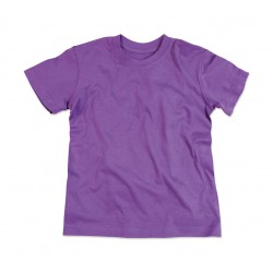 T-shirt col large bio - FILLE